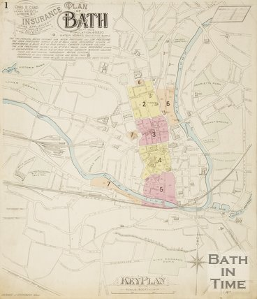 Page 1 Goad Insurance Map of Bath 1924