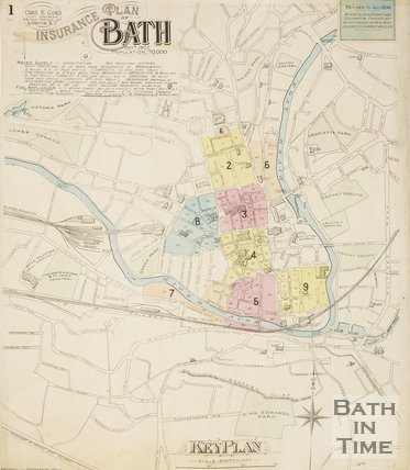 Page 1 Goad Insurance Map of Bath 1930