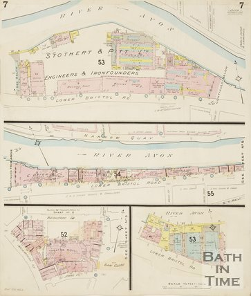 Page 7 Goad Insurance Map of Bath 1930