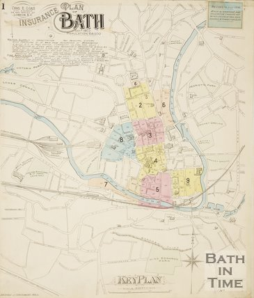 Page 1 Goad Insurance Map of Bath 1936