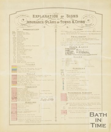 key Goad Insurance Map of Bath 1936
