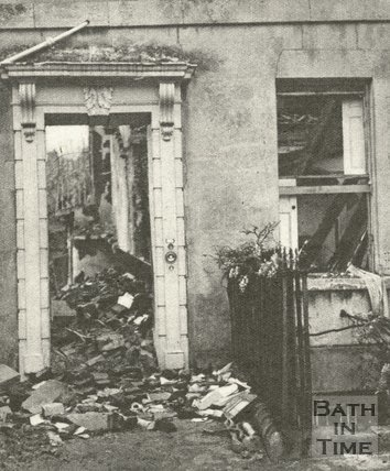 Somerset Place after the Bath Blitz, April 1942