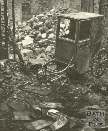 Inside the Assembly Rooms after the Bath Blitz, April 1942