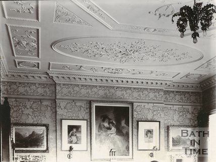 Drawing room, 30, Royal Crescent, Bath c.1903