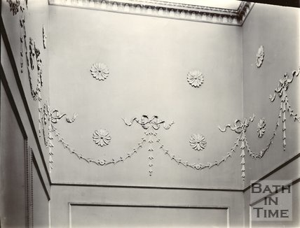 Plaster wall decoration, Royal Crescent, Bath c.1903