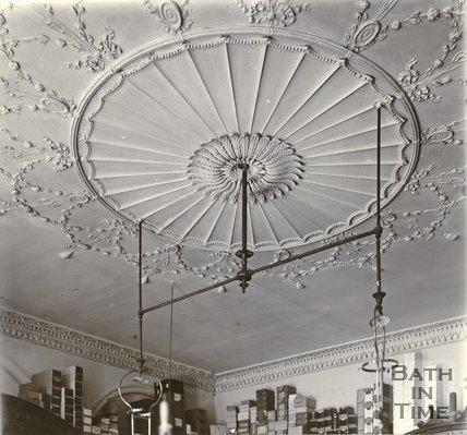 Plasterwork ceiling, 12, Old Bond Street, Bath c.1903