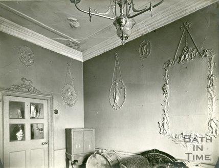 Plasterwork, 13, Kingsmead Street, Bath c.1903