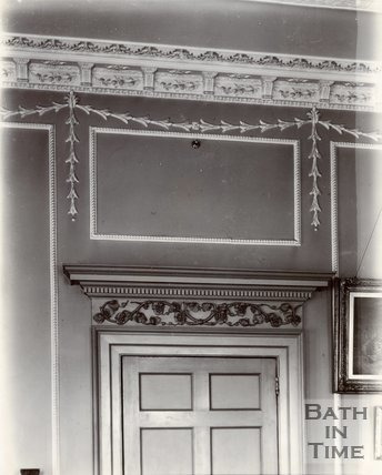 Ground floor dining room wall decoration, 30, Royal Crescent, Bath c.1903