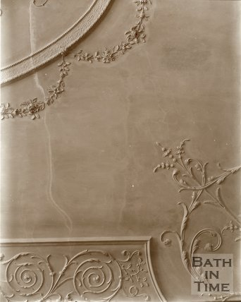 Detail of plasterwork ceiling, Royal Crescent, Bath c.1903