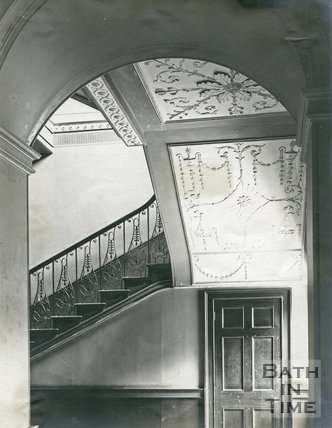 Plasterwork and main staircase, Guildhall, Bath c.1903