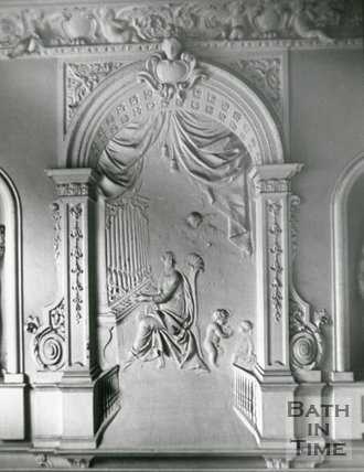 Plasterwork, no.15 Queen Square, Bath, c.1979?