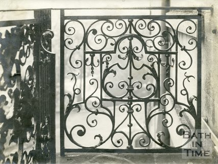 Ironwork. Wrought iron railings now at 1 Lansdown Place West, Bath, c.1960s