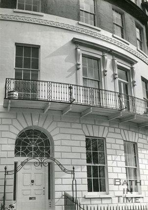 Ironwork railings at No.5. Cavendish Place, Bath 1955