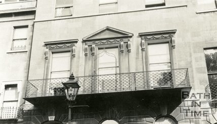 Architectural details - windows. No.10 Cavendish Place, Bath, c.1915