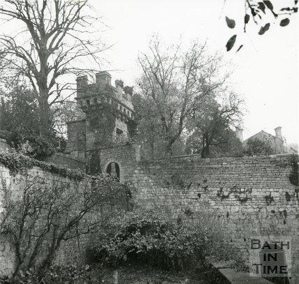 Gateway above Fairchilds Nursery, Upper Lansdown Mews, Bath, 11th November 1964