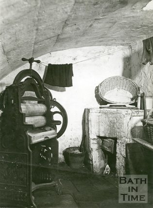 Slum Interiors. No.12, Waterloo Buildings, Widcombe, Bath, c.1950s