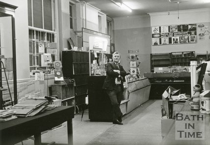 Green and Marsh Record and Music Shop. No.2, Burton Street, Bath, March 1971
