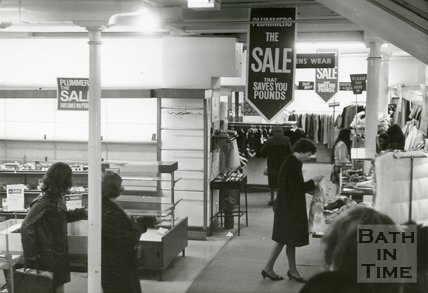 Plummer Roddis, Bath. Ground Floor, looking towards Main Entrance. Last day of trading. February 1971