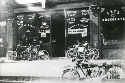 Bells Cycle Shop Lower Bristol Road, 1929