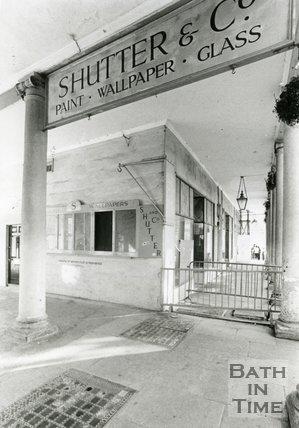 Shutter & Co Shop, Bath Street, Bath, October 1989