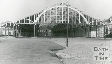 Green Park Station, Bath during Restoration Work, December 1982