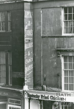 Shop sign on no.3, Cleveland Place East, London Road, Bath 1985