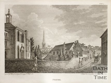 Street view of Frome, Somerset, 1802