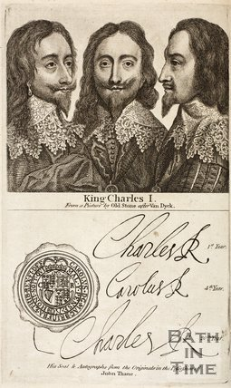 Portrait of King Charles I showing side profiles
