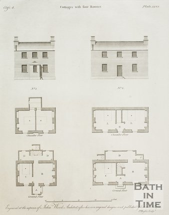 Cottages with four Rooms from A Series of Plans for Cottages for Labourers by John Wood the younger, 1781
