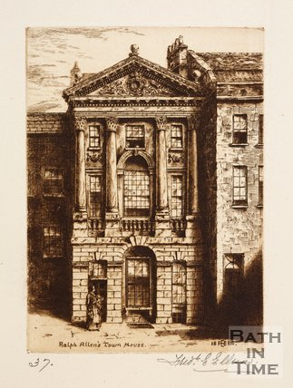Etching of Ralph Allen's Town House, Bath, 1886