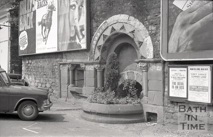 The Ladymead Fountain on Walcot Street, Bath, 1967