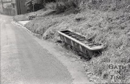 Horse trough on Lansdown Hill, Bath, 1967