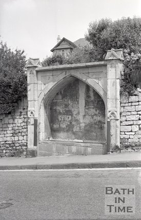 Horse trough on Widcombe Hill, Bath, 1967
