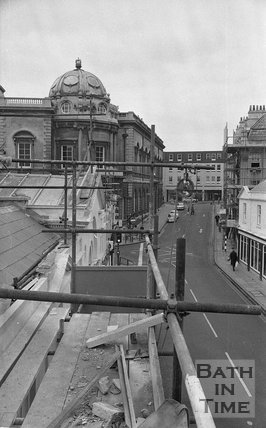 The restoration of Pulteney Bridge, Bath, 27 January 1976