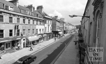 View down Argyle Street, Bath, 3 June 1992