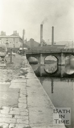 Old Bridge, from Broad Quay Bath, c.1915
