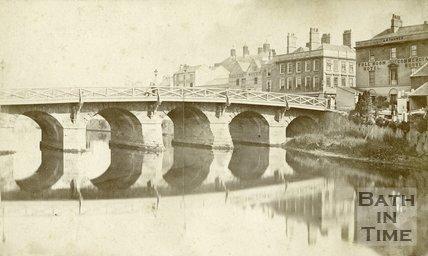 Old Bridge, Bath, late 1860s
