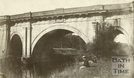 Dundas Aqueduct, Bath, late 1860s
