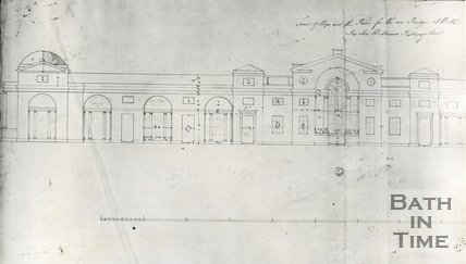 Original drawing by Robert Adam for Pulteney Bridge, Bath, c.1768