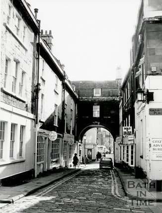 Queen Street, Trim Bridge, Bath, 1973