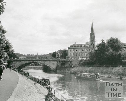 North Parade Bridge, Bath, c.1990