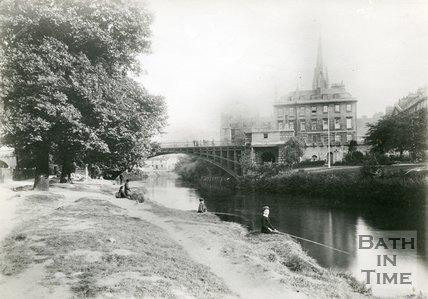 North Parade Bridge, Bath, c.1895
