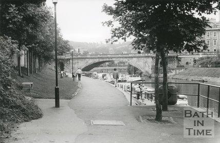 North Parade Bridge, Bath, 1987