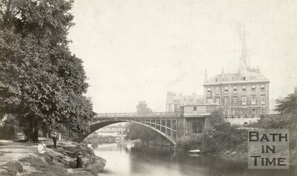 North Parade Bridge, Bath, c.1876