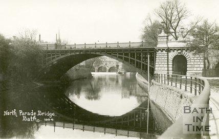 North Parade Bridge, Bath, c.1913