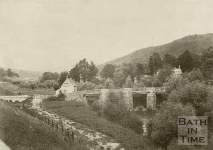 Limpley Stoke Bridge, from the railway station, Bath, c.1870