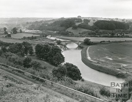 The construction of the Bath Caravan Park at Newbridge, Bath, 1971