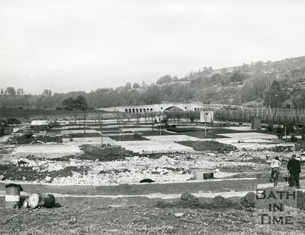 Newbridge Road caravan site development, Bath, 1971