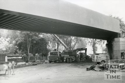 New Pulteney Road Railway Bridge, Bath, 22 October 1975