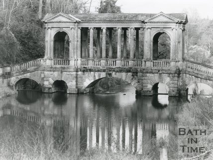 Palladian Bridge at Prior Park, Widcombe, Bath, 6 January 1983